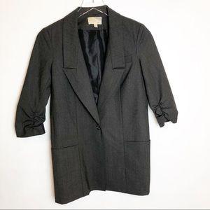 Elizabeth & James | Gray Wool Pocket Blazer